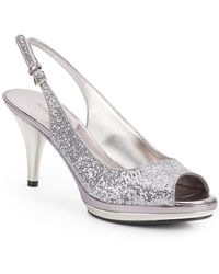 Nine West Sharina Glittery Peeptoe Slingbacks - Lyst