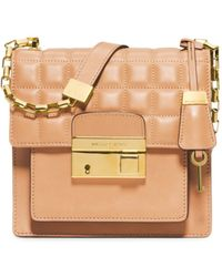 Michael Kors Gia Small Quilted-Leather Crossbody - Lyst