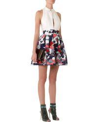 Mary Katrantzou Algernon Skirt Poppies Liquorice - Lyst