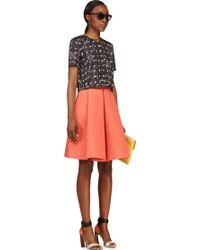 Roksanda Ilincic Orange Wool Alia Skirt - Lyst