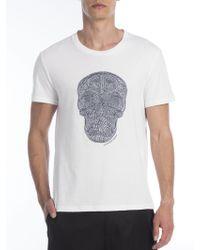 Alexander McQueen   Embroidered Skull Tee   Lyst