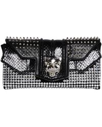 Philipp Plein - Swarovski Nappa Leather Clutch - Lyst