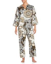 N Natori - Blossom Shade Satin Pyjama Set - Lyst
