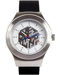 Sismeek Hexacomplexity White Strap Black Leather Watch - Lyst