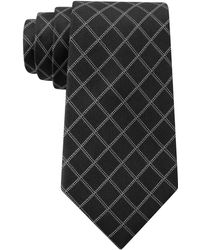 DKNY Silk Graphic Check Tie - Lyst
