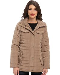 Michael by Michael Kors Beige Quilted Anorak - Lyst