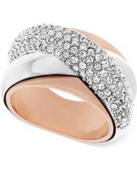 Swarovski Two-tone Crystal Ring - Lyst