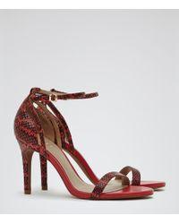 Reiss Malva Single Strap Sandals - Lyst