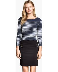 H&M Striped Top - Lyst