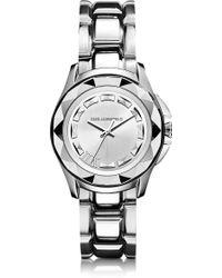 Karl Lagerfeld Karl 7 36 Mm Silver Ip Stainless Steel Unisex Watch silver - Lyst