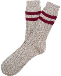 Etiquette | Sherpa Ribbed Socks | Lyst