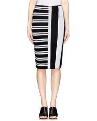 Theory 'Efersten' Combo Stripe Knit Pencil Skirt - Lyst