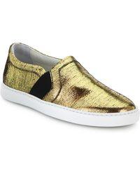 Lanvin Laminated Slip-On Sneakers - Lyst