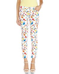 Love Moschino Printed Skinny Jeans - Lyst