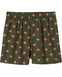 Old Navy Green Printed Boxers - Lyst