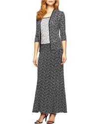 Alex Evenings - Floral Print Camisole Skirt And Jacket Set - Lyst