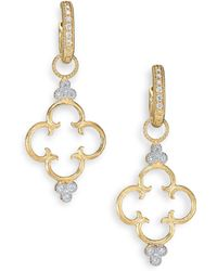 Jude Frances Classic Diamond & 18K Yellow Gold Clover Charm Earring Charms - Lyst