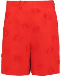 Roland Mouret - Kelston Frayed Crepe Mini Shorts - Lyst