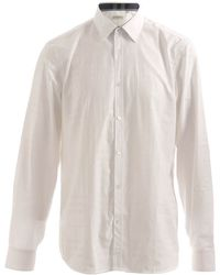 Burberry White Shirt - Lyst