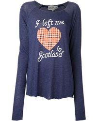 Wildfox My Scottish Heart Tshirt - Lyst