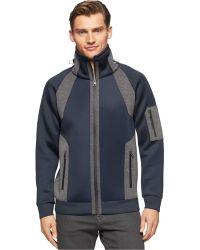 Calvin Klein | Full-zip Funnel-neck Jacket | Lyst