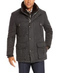 Hugo Boss T-Cenu | Wool And Cashmere Blend Coat With Removable Fur Vest - Lyst