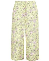 Topshop Kaleidoscope Floral Print Silk Wide Leg Trousers By Boutique - Lyst