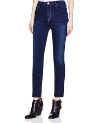 Jen7 - Riche Touche Skinny Jeans In Stargazer Blue - Lyst