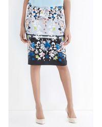 Oasis Oriental Blossom Pencil Skirt - Lyst