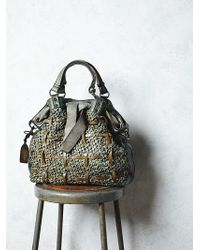 Free People Womens Leather Woven Tote - Lyst