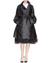 Ms Min Oversized Silk Canton Gauze Trench Coat - Lyst