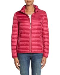 Tumi - Packable Down Jacket, Red - Lyst