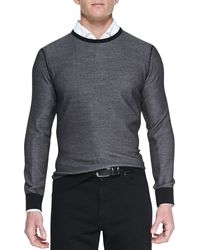 Ermenegildo Zegna Crewneck Athletic Sweater - Lyst