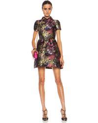 Valentino Camu Flower Brocade Bambolina Dress - Lyst