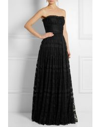 Dolce & Gabbana Lace And Point D'Esprit Gown - Lyst