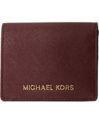 Michael by Michael Kors Jet Set Travel Flap Card Holder - Lyst