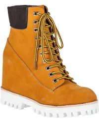 Jeffrey Campbell Wallace Wedge Boot Wheat orange - Lyst