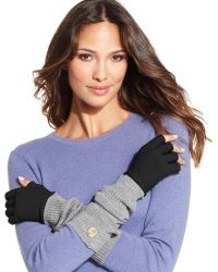 Vince Camuto Fine Gauge X-long Fingerless Gloves - Lyst