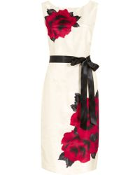 Jacques Vert Exclusive Rose Print Shift Dress - Lyst