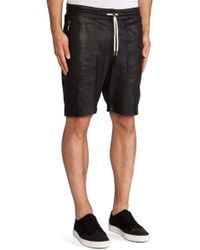 Zanerobe Gabe Perforated Leather Short - Lyst