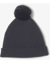 Vince Cashmere Beanie With Fur Pom - Lyst