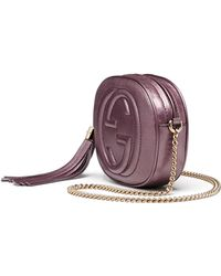 Gucci Soho Metallic Leather Mini Chain Bag - Lyst