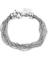 Anne Klein - Silvertone Ball Chain Multi-Strand Bracelet - Lyst
