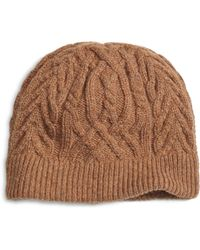 Brooks Brothers - Camelhair Cable Knit Hat - Lyst