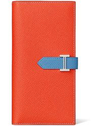 hermes card cases peacock blue