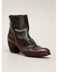Officine Creative Twotone Ankle Boots - Lyst