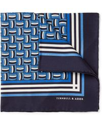 Turnbull & Asser Rope-print Silk Pocket Square - Lyst