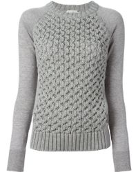 Moncler Cable Knit Jumper - Lyst