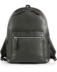 Bally Grained Leather Backpack - Lyst