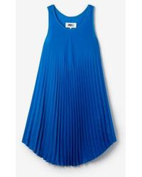 Mm6 By Maison Martin Margiela Pleated Tank Dress - Lyst